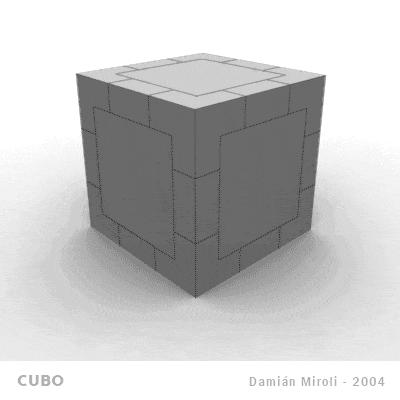 Damián Miroli - Proyecto Cubo (contraible al tacto) - 2004