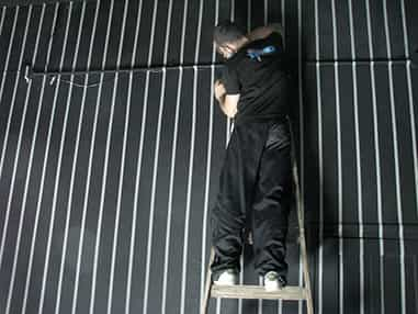 Damián Miroli, armado de grilla centelleante en Rusia Galeria