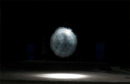 Damián Miroli -Cañon de vortices toridales de humo - Espacio Cripta - 2011